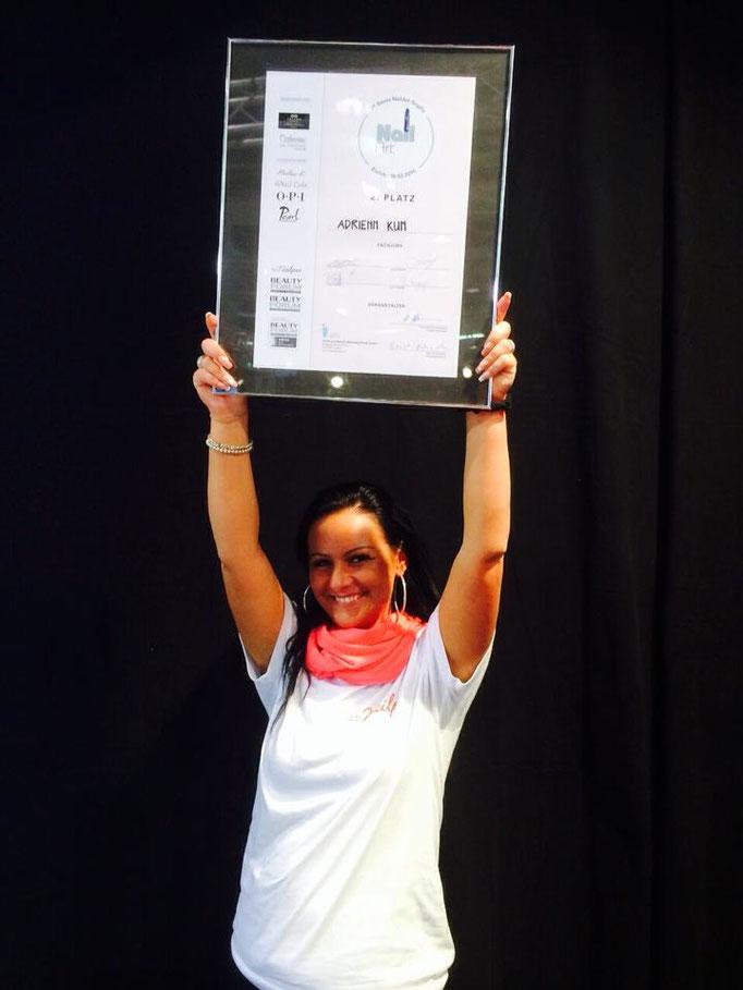 2015 2. Platz Schweizermeisterschaft Adrienn Kun Lakatosné mit Pearl