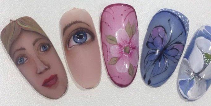 Tip Arbeiten Adrienn Kun Lakatosné mit Pearl UV Painting Gel