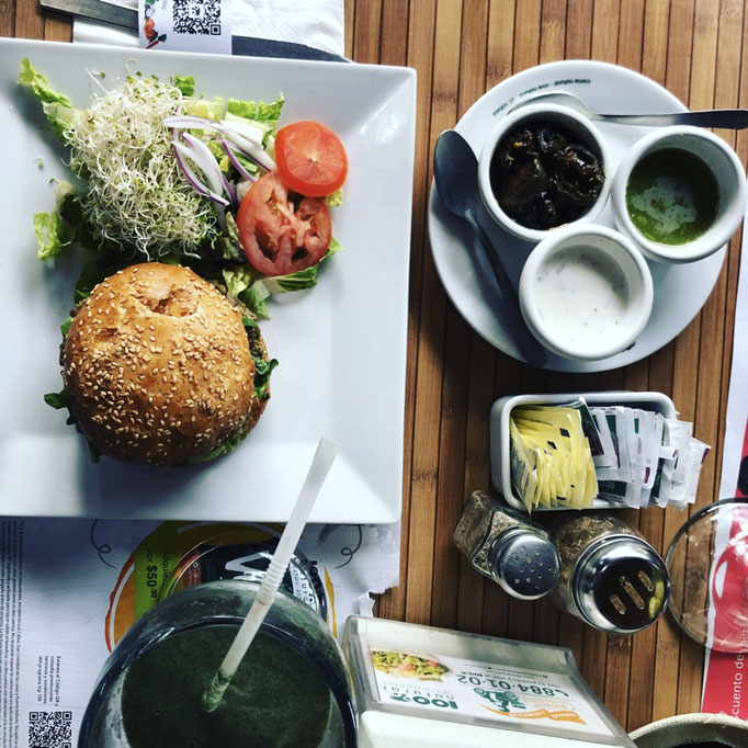 Healthy vegan lunch in Cancun