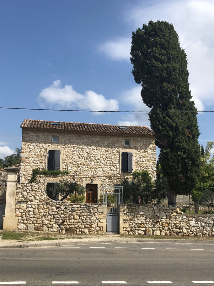 Beautiful houses near Bourdic, South of France