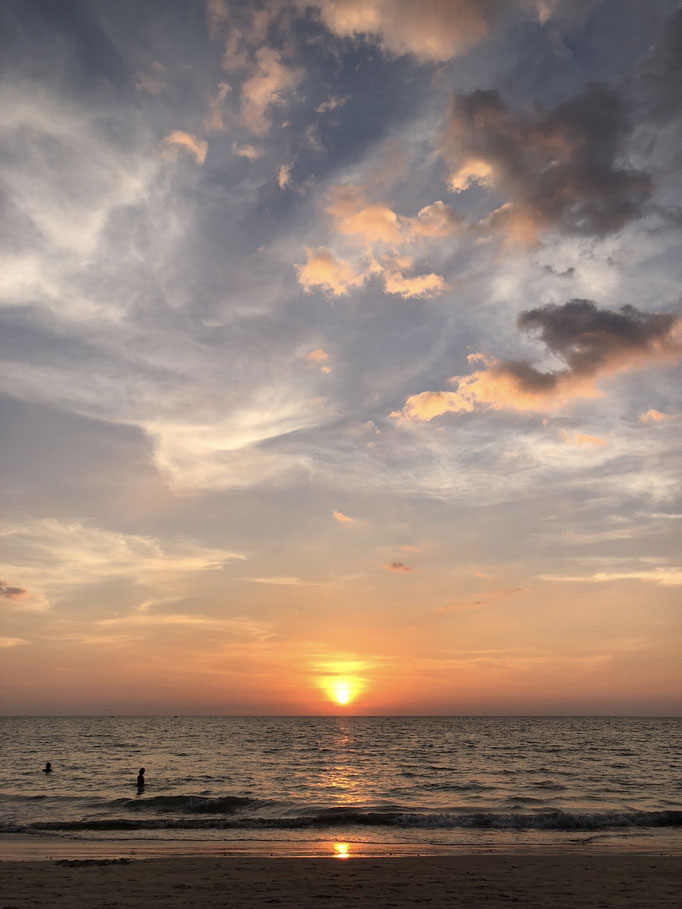 A hangover and sunset at the beach in Kamala, Phuket (Thailand)
