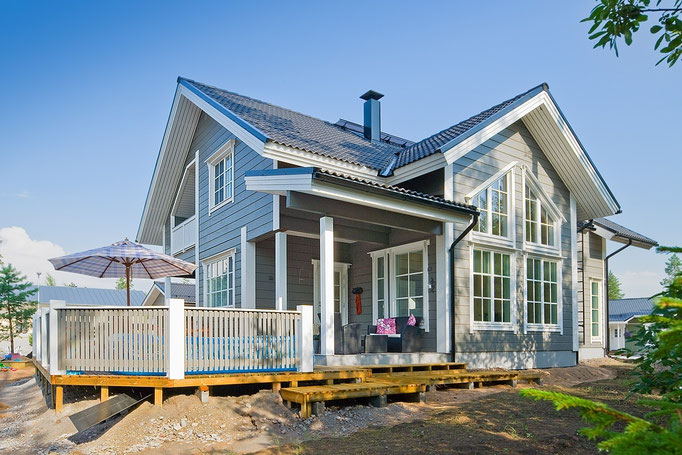 Einfamilienhaus - Architektenhaus in Blockbauweise - Maßgeschneiderte Wohnblockhäuser - Nachhaltige Einfamilienhäuser
