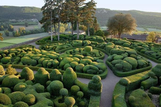 Les jardins de Marqueyssac .