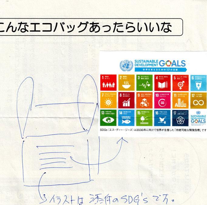 SDGsロゴ入りエコバッグ(イラスト部門)