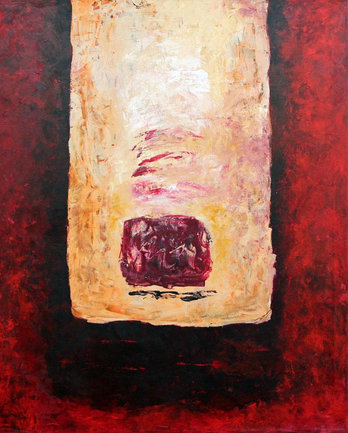 ohne Titel  Acryl auf Leinwand  110 x90 cm