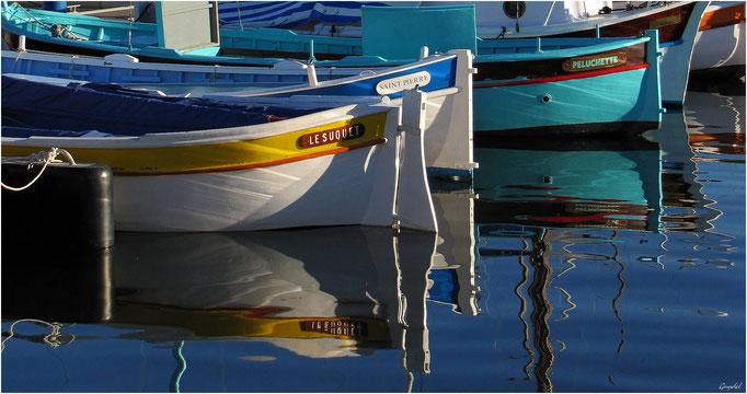 """Le Suquet ... Saint Pierre ... et Peluchette ... quelques """"pointus"""" du petit port du Moure Rouge à Cannes !"""