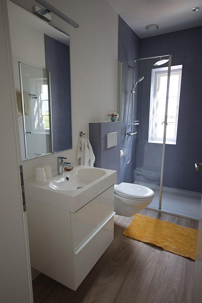 Badezimmer in der Ferienwohnung Grüne Weide