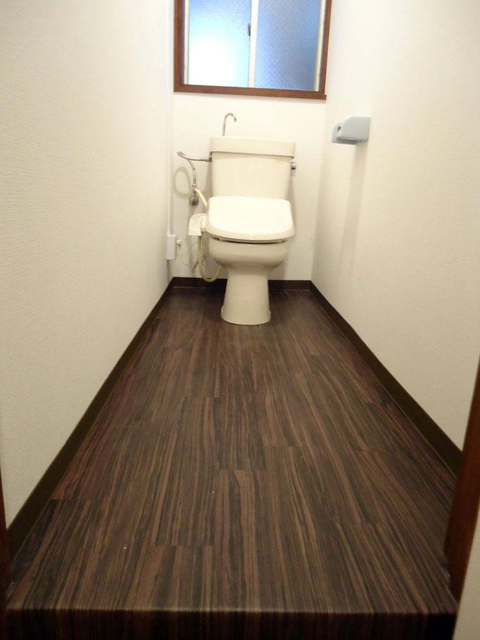 トイレも一新! でもクロスと床の張り替えだけなんです!