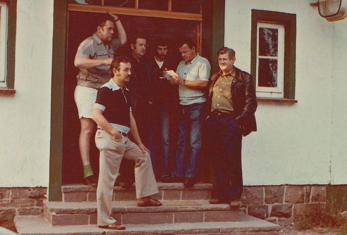 v.l. Albert Eggers, Gerhard Tewes, Walter Brekerbohm, Rolf Winter, Ernst Brümmer und August Pieper