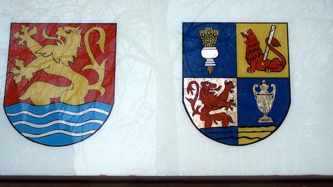 Wappen am Gemeindehaus