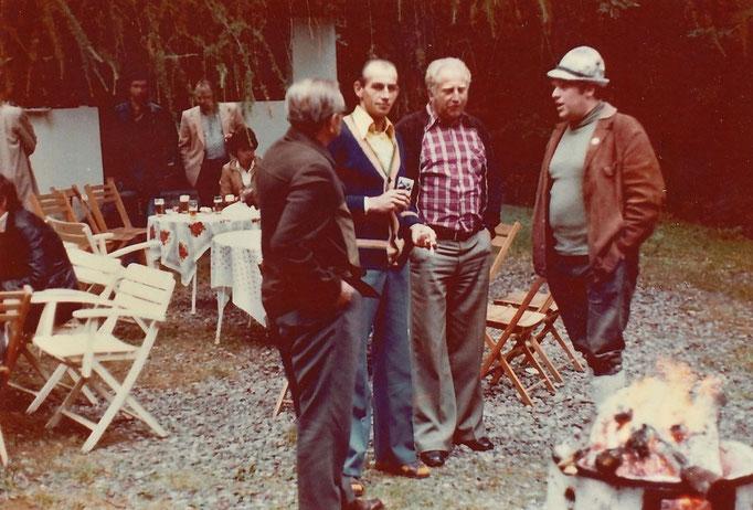 v.l. Heinrich Kreitz, Dieter Brecht, Helmut Heyer und Albert Eggers
