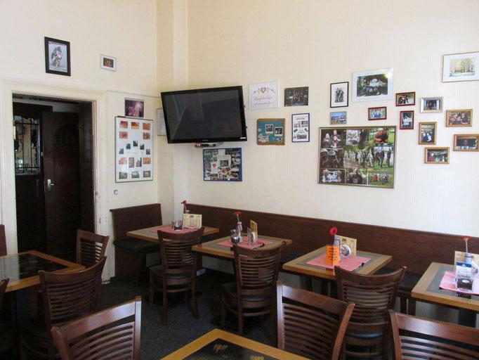 Das Fernseh/- Frühstückszimmer heute / Foto M. Zühlsdorf