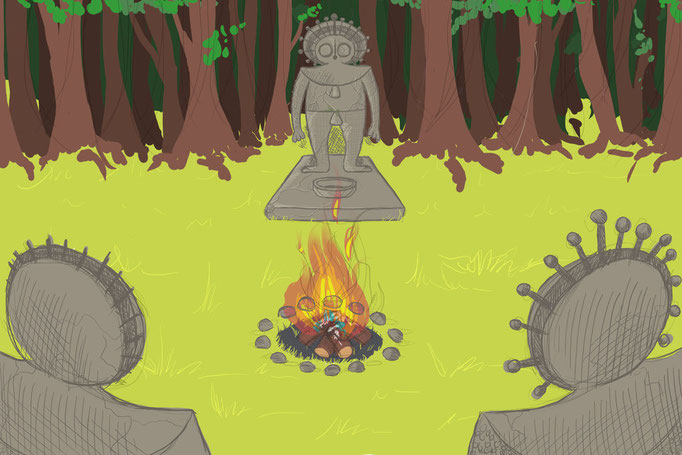 Location concept; sacred ritual grounds