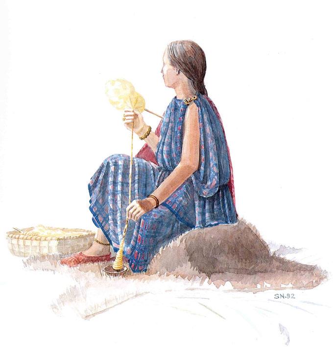archäologische Darstellung Frau Eisenzeit