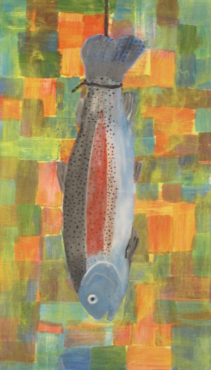 Forelle, 2013, Acryl auf Leinwand, 40 x 70 cm