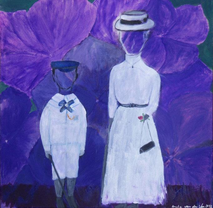 Mutter und Sohn 1909, 2012, Öl und Acryl auf Leinwand, 40 x40 cm