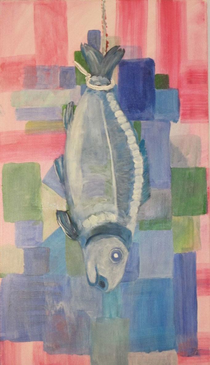 Karpfen, 2013, Acryl auf Leinwand, 40 x 70 cm