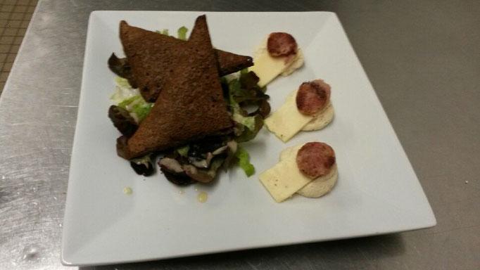 Samosas de Blé noir - Saucisse de Chateaulin & Tomme du nevet