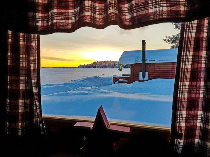 Ausblick aus der Bärenhütte/Schnee und Eis