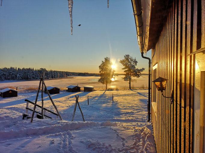 Sonnenaufgang  in Lappland
