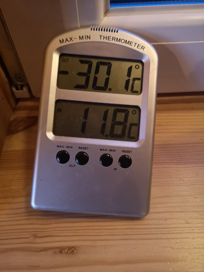 30 Grad kalt in Schweden