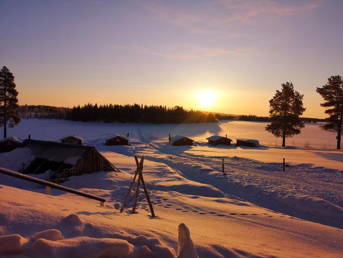 Blockhütten bei Lapplandsdrag