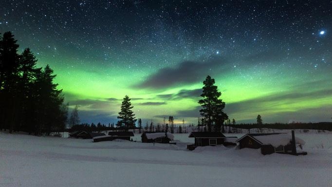 Nordlichter bei Lapplands Drag