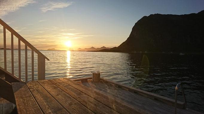 Ausblick Terrasse in Norwegen