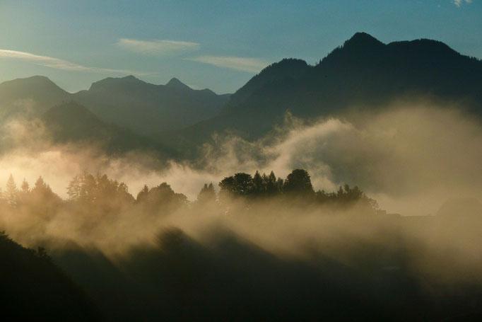 Nebelstimmung bei Bad Aussee, Österreich