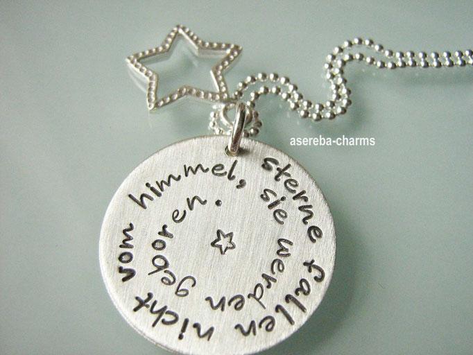 """Geschenk für die Mami zur Geburt: Kette """"Sterne fallen nicht..."""""""