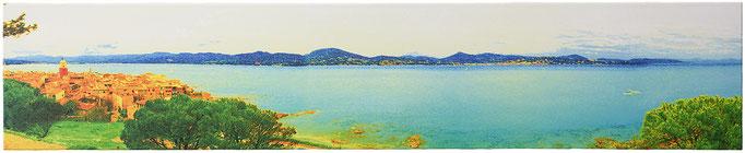 TROPEZIENNE (2013, 1/8, 150x30cm, MP0308, Photographie, Digitaldruck auf Leinwand, Mixed Media) © Michael Pfenning. Verkauft/Sold: 1, 2, 3 von 8