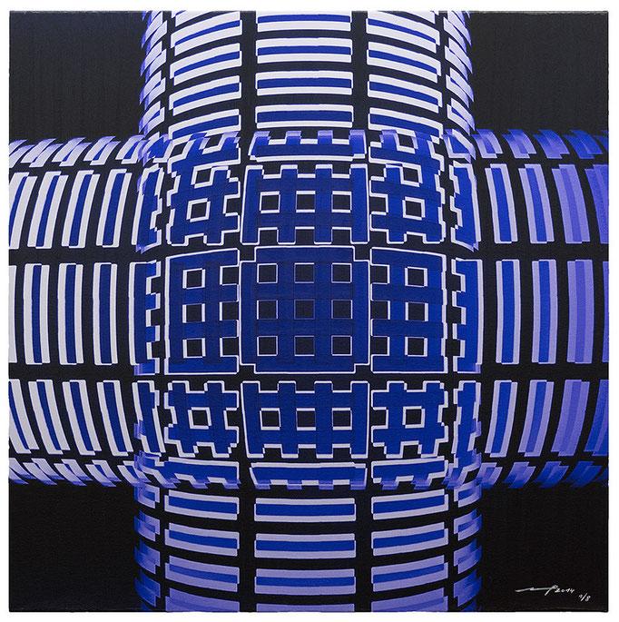 SOURCING IDEAS (2014, 1/8, 65x65cm, MP0027, Photographie, Inkjet-Pigmentdruck auf Leinwand, Acryl) © Michael Pfenning