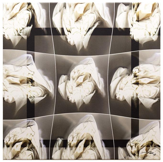 MOTIONES (2014, 1/8, 65x65cm, MP0039, Scan, Inkjet-Pigmentdruck auf Leinwand, Acryl) © Michael Pfenning. Verkauft/Sold
