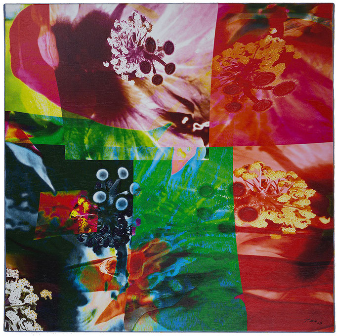 STAMPARIS (2014, 1/8, 65x65cm, MP0058, Photographien, Inkjet-Pigmentdruck auf Leinwand, Mixed Media) Verkauft/Sold © Michael Pfenning. Verkauft/Sold: 1+2 von 8, Verfügbar/Available: 3-8 von 8
