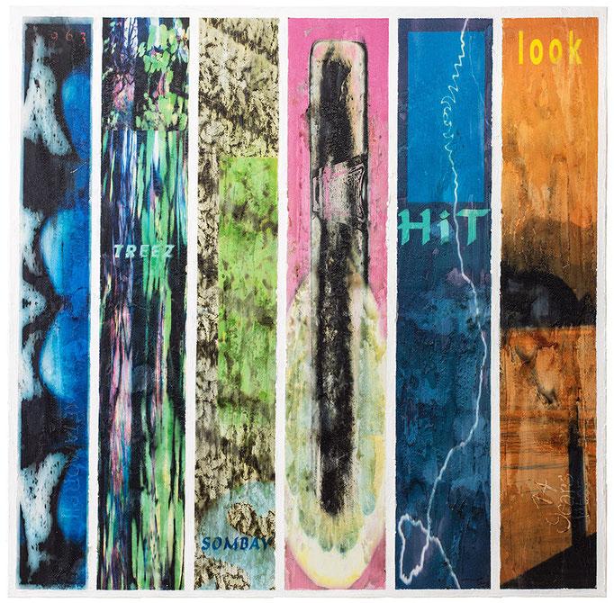 FIRST MOMENTS (2013/2014, 1/8, 119x117cm, MP0001, Photographien, Scans, Inkjet-Pigmentdruck auf Leinwand, Mischtechnik) © Michael Pfenning
