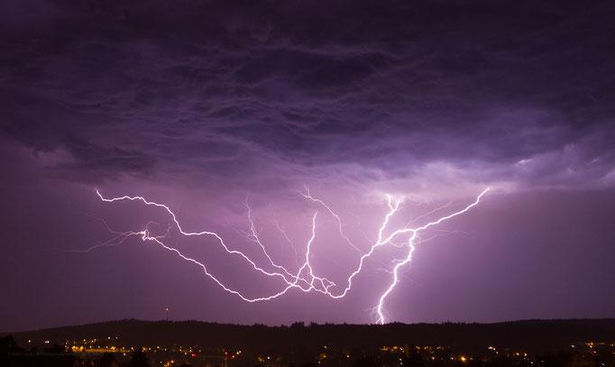 Gewitter/Blitz, Schaffhausen, Schweiz, 2012 08 02 (MP0359) © Michael Pfenning