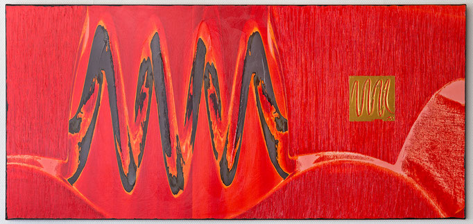 MUSIQUE MARY-DIANE (2018, 140x65cm, Scan, Inkjet Pigmentdruck auf Leinwand, Acryl, MP0041) © Michael Pfenning