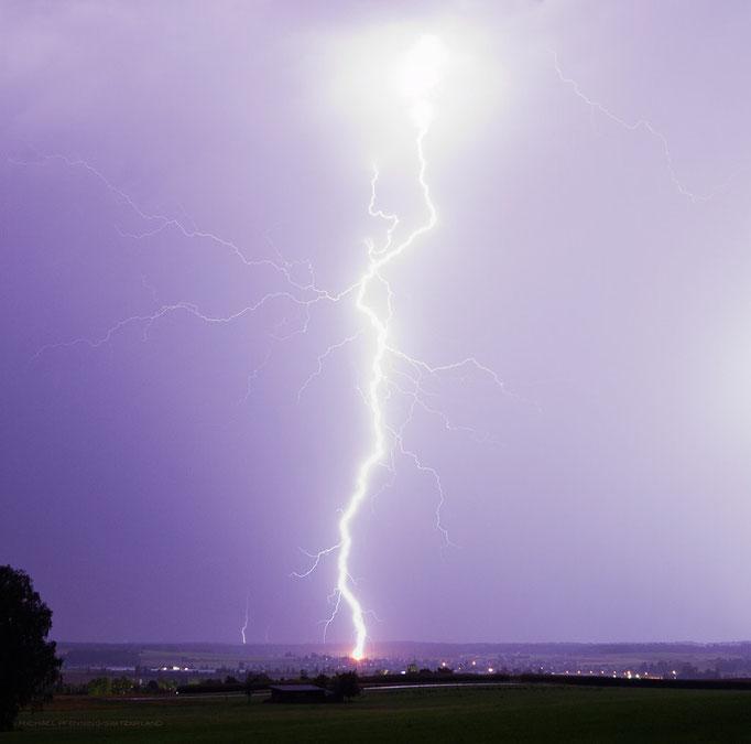 Gewitter/Blitz Basadingen, Schweiz, 2012 08 24 (MP0354)  © Michael Pfenning