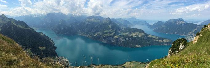 Vierwaldstättersee (Urnersee) Blick vom Fronalpstock, Schweiz, 2018 07 14 (MP408) © Michael Pfenning