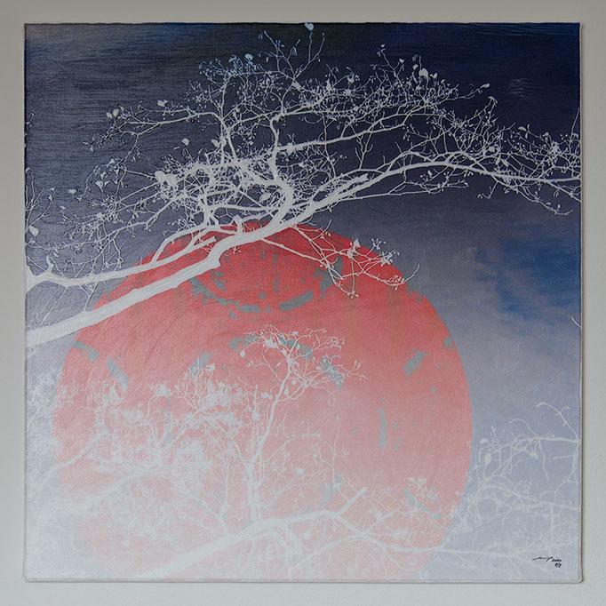 PACIELA (2020, 65x65cm, Photographie, Scan, Inkjet Pigmentdruck auf Leinwand, Acryl, MP0047, Print#4v8) © Michael Pfenning. Verkauft/Sold