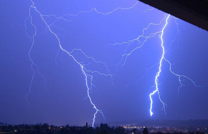 Gewitter/Blitz, Schaffhausen, Schweiz, 2012 07 28 (MP0361) © Michael Pfenning