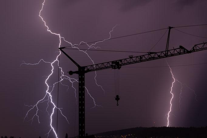 Gewitter/Blitz Schaffhausen, Schweiz, 2017 08 30 (MP0399) © Michael Pfenning