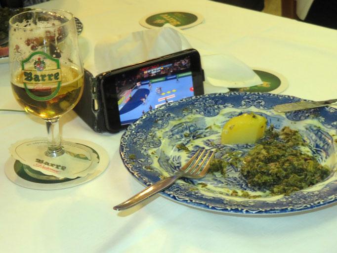 das Iphone informierte über das Handball-EM-Spiel