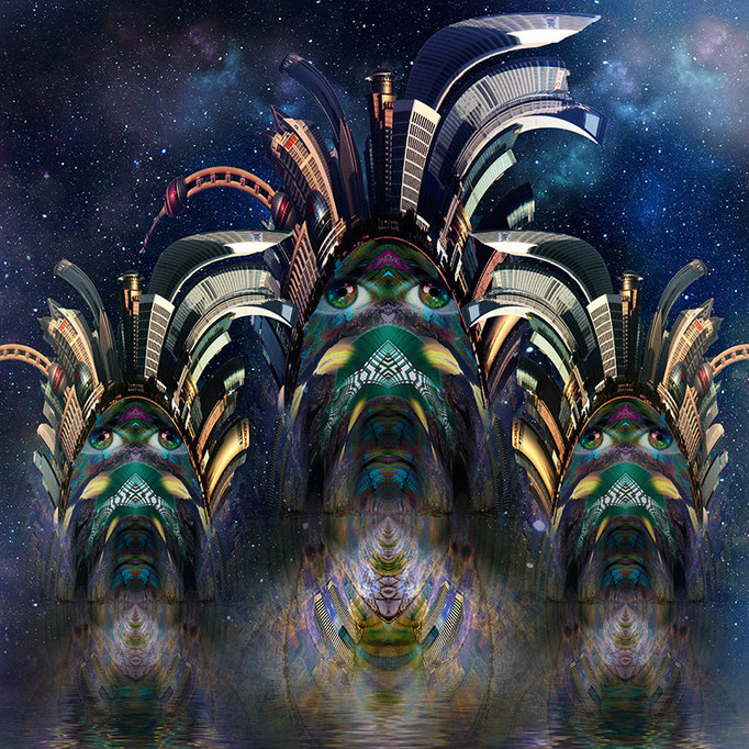 Space Indians © kaleidoscope king may 2015