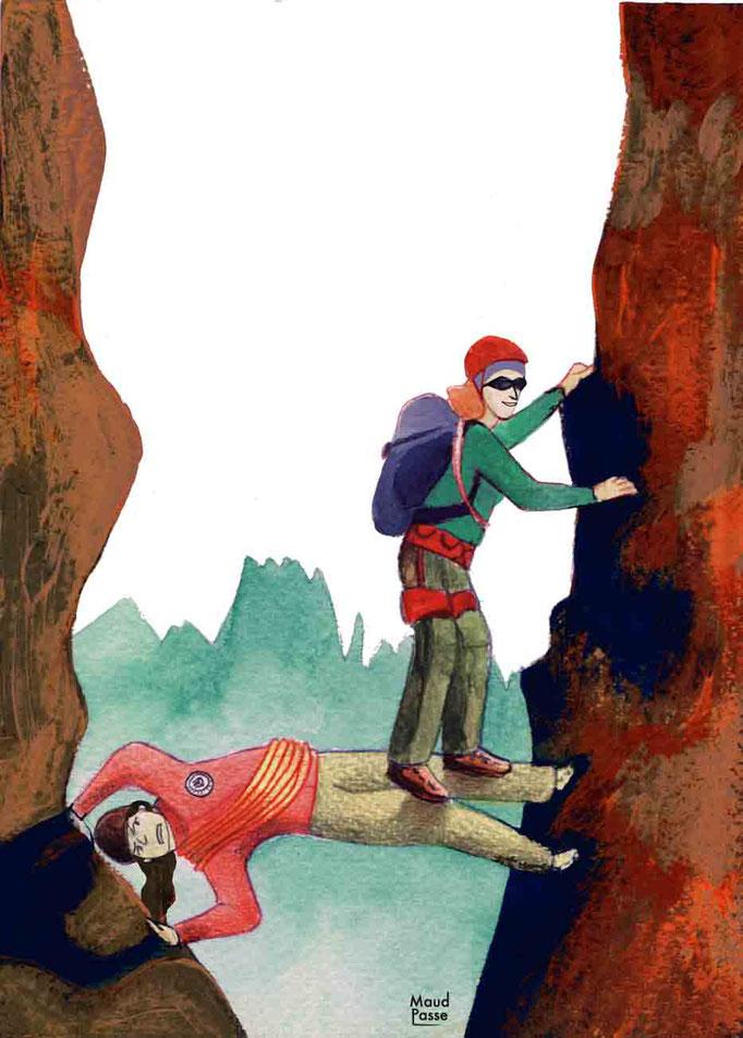 """""""Ah si j'étais guide..."""", Montagne Magazine, chronique """"ça pic!"""", octobre 2015. Article à propos des alpinistes amateurs."""