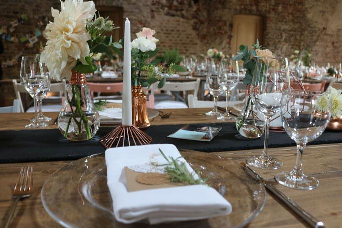 Geschirr & Besteck, Tischdekoration - Hochzeit Vintage