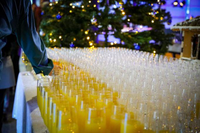 Sektempfang - Weihnachtsfeier