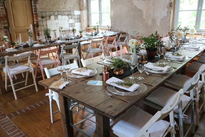 Geschirr & Besteck, Tischdekoration, Bestuhlung - Hochzeit Vintage