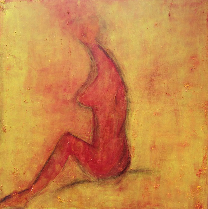 Akt I, Acryl auf Leinwand, 100 x 100 cm