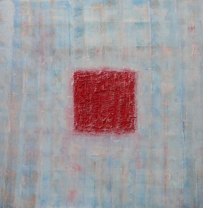 Herzblut, Acryl auf Leinwand, 100 x 100 cm